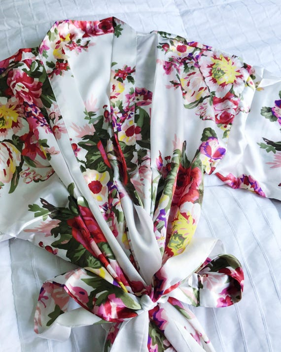 Floral Robes | Floral Bridesmaid Robes