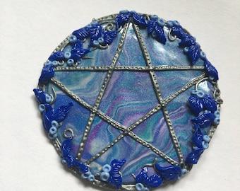 Pagan Altar Tile, Wiccan Pentagram, Handmade Polymer Clay tool