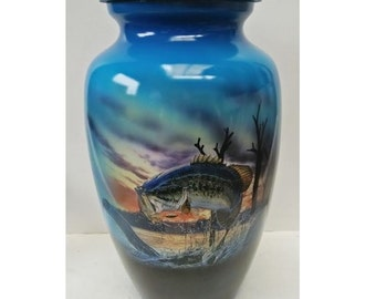 Hand Crafted Bass Cremation  Urn