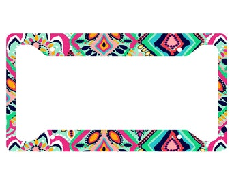Lily Pulitzer Inspired License Plate Frame