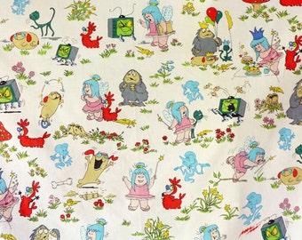 Very Rare Wilo the Wisp Cotton Fabric