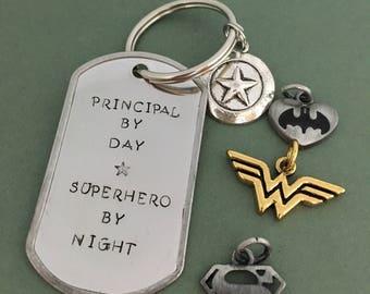 Superhero Principal Keychain