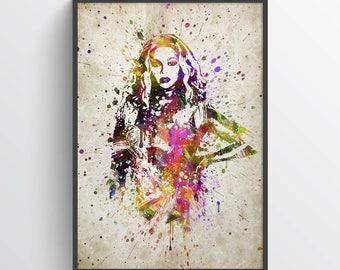 Beyonce Art Print, Beyonce Poster, Beyonce Art, Beyonce Decor, Home Decor, Gift Idea