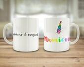 Mumicorn mug, pun unicorn...