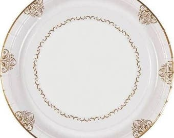 25/Elegant Wedding Dinner Plates/ Wedding/ Wedding reception plates / Bridal shower