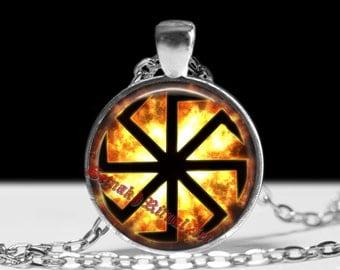 Kolovrat pendant, Slavic amulet, pagan jewelry, Slavic necklace, magic talisman #448