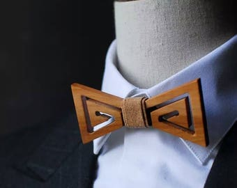 Groom Bow Tie Groomsmen Wooden Bow Ties Custom Wedding Bow Ties