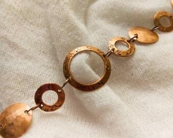 Copper Bracelet, Handcrafted