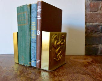 Heavy Brass Medical Bookends