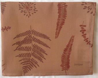 Fern tea towel - brown ferns - fern kitchen towel - in 100% cotton