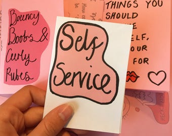 Self Service - a mini zine illustrated by me