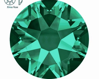BLUE ZIRCON (229) ss20 SWAROVSKI Crystal Flatback Rhinestones Xirius Rose 2088