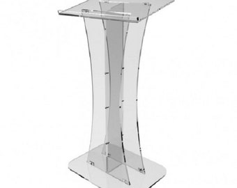 Fixture Displays® Plexiglass Acrylic Podium Clear Lectern Church Pulpit 1803-311