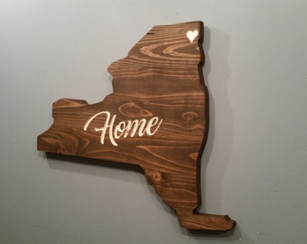 New York State sign, New York City, personalized sign, custom sign, gift
