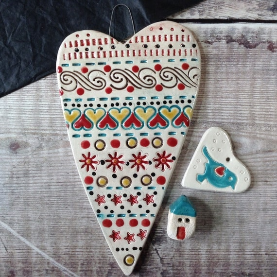 Handmade Ceramic Hanging Heart