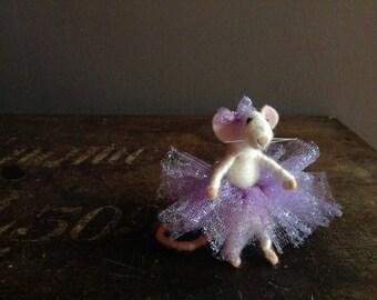 Needle felt mouse in tutu