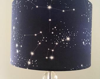 Constellations lamp shade, night sky, starry night, galaxy stars,