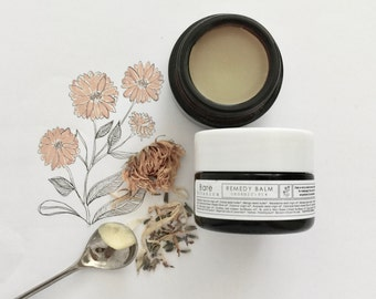 REMEDY BALM ~Organic~Multipurpose face & body balm~Soothe~Repair~Nourish~Oil Cleansing Balm~Healing~Nourishing | Vegan |