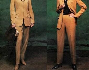 Vogue 2696 Sharp as a Tack Anne Klein Jacket & Pants / 2002 SZ14-18 UNCUT