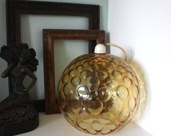 Vintage czech Borske 60s 70s retro glass light shade