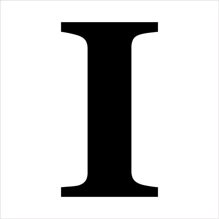 Classic Serif Letter Stencil - I - Select Size - STCL1722 - by StudioR12