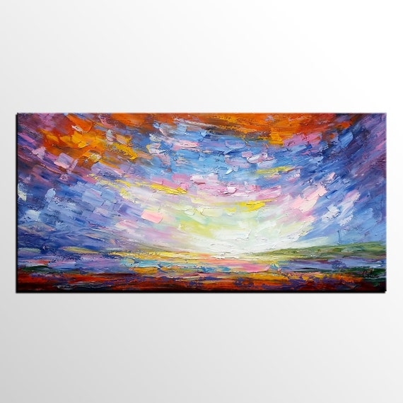 living room wall art large art abstract art abstract landscape