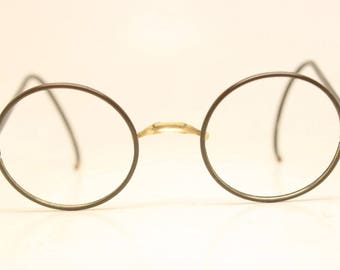 Small Antique Round Windsor Style Eyeglasses