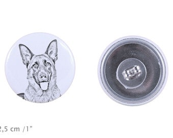 Earrings with a dog - German Shepherd