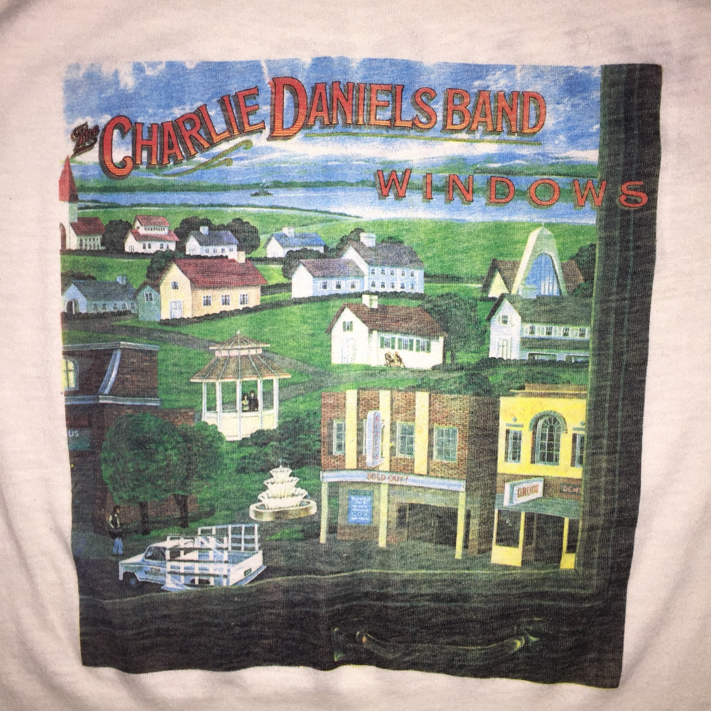 Vintage 1982 Charlie Daniels band windows concert tour t shirt *XS 1DMygy4w83
