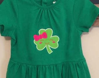 Shamrock applique,Shamrock,St Patrick's day,Irish,Shamrock,Shamrock design,Shamrock embroidery,Shamrock with Girl,Symbol of Ireland.-05