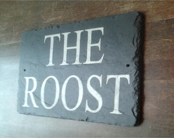 Beautiful Natural Slate House Signs 40cm x 20cm Personalised for you with any details - Made by Master Craftsmen WORLDWIDE DELIVERY