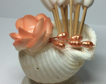 Retro Sea Shell Holder with Tooth Picks
