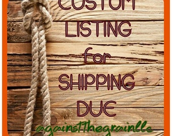 Shipping listing created for Janice
