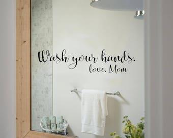 Bathroom Mirror Stickers mirror decal   etsy