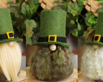 Leprechaun Gnome, St Patrick's Day Gnome, Irish Gnomes, Elf, Elves, SEAMUS Irish Gnome, Nordic Gnomes, Gifts Gifts, Ireland, Green Gnomes