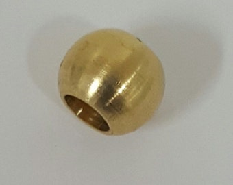 Greek Solid Raw Brass Large Hole Bead 13mm x 10