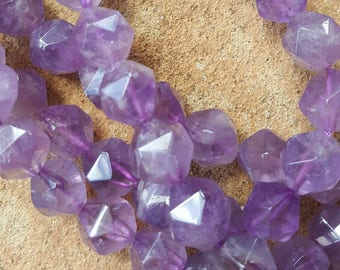 "Natural Amethyst Faceted Round Beads, 12mm - 16"" Strand"