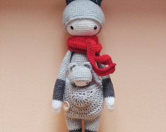 Kira the Kangaroo Crochet doll Amigurumi Handmade toy Crochet gift Baby doll Stuffed doll Baby shower Child birthday Lalylala Handmade doll