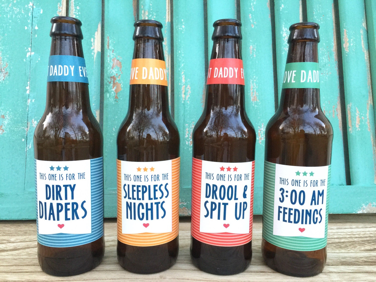 First time dad beer bottle labels gift for daddy first for Father s day gifts for first time dads