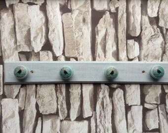 Rustic bird hanger | jewellery holder | coat hooks | hall decor | wooden hanger