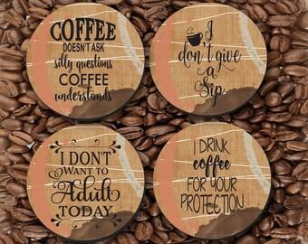 Coasters - Caffeine Lovers, Coffee Lover, Coffee Phrases, Sarcastic, Hostess, Coaster - CO00938