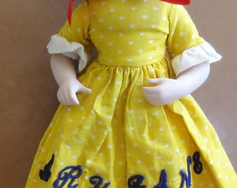 Vintage 1985 Franklin Heirloom Mary Jane Doll