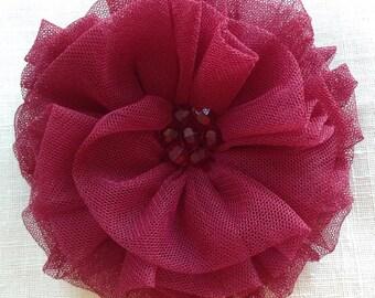 Ornate Fabric Flower