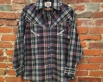 Vintage Women's Country Charmer Western Shirt Medium
