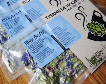 Bleu du ciel - Hop and aniseed Cornflower herbal tea; relaxing and remineralizing (15g)