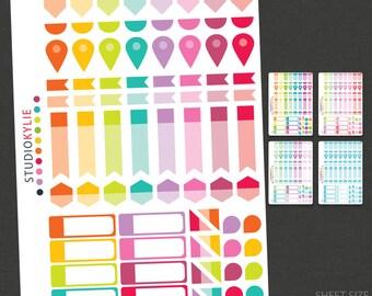 Essentials Planner Stickers - Repositionable Matte Vinyl Stickers