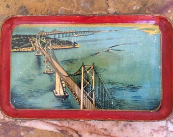 Vintage 1940's San Fransisco Bay Bridge tray