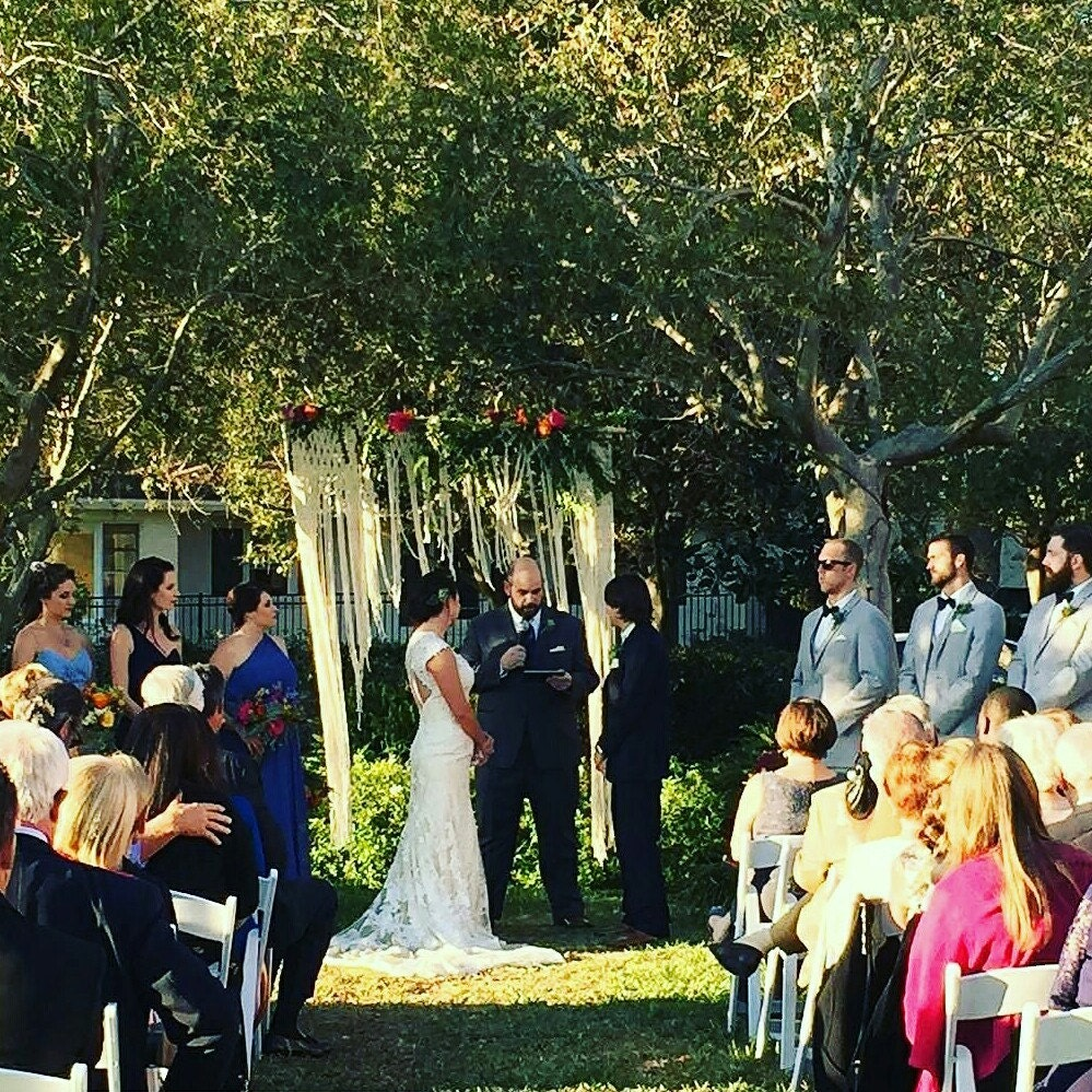 Non Traditional Wedding Arches: Macrame Wedding Ceremony Backdrop For An Arch By