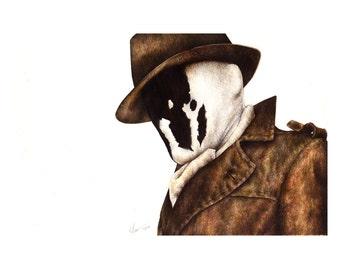 Watchmen - Rorschach Pencil Portrait Print
