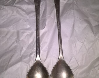 Gorgeous vintage salad fork and spoon.